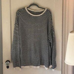 Eileen Fisher 2x striped sweater.